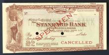 Standard Bank of South Africa, ND (ca.1920-30), Specimen Traveler's Check.