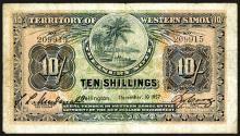 Territory of Western Samoa. 10 Shillings, 1957.