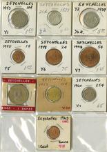 Seychelles, 10 pieces.