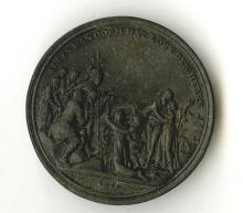Treaty of Paris, 1814. By Loos. Base metal or Iron example. Commemorative for the end of the Napoleonic wars. 41mm.