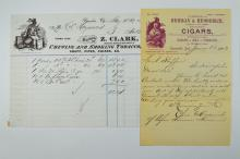 Cigar and Tobacco related Letterheads.