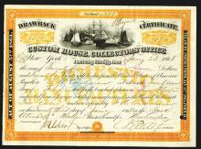 Custom House Collectors' Office 1868 Drawback Certificate.