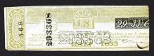 Delaware 1833 Lottery Ticket.
