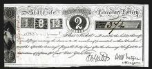 State of New York, Literature Lottery, 1825, Issued lottery ticket.