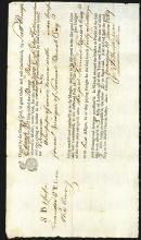 Great Britain to Virginia 1769 Receipt for Wine shipment.