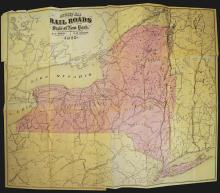 New York State Railroad Map, 1875