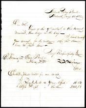 Francis E. Spinner  1855 Handwritten and Signed Letter from Mohawk Valley Bank.