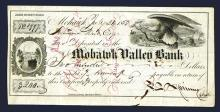 Spinner Autograph on 1853 Mohawk Valley Bank Certificate of Deposit.