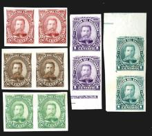 Correos Del Salvador, 1895, Color Trial Proof Stamp Pairs From Hamilton BNC Archives - Not Reprints.