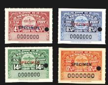 Tennessee Liquor Tax Stamp Specimens.