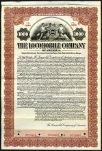 Locomobile Company of America, Inc. 1912 6% Gold Coupon Bond.