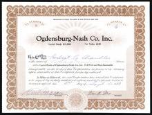Ogdensburg- Nash Co. Inc.