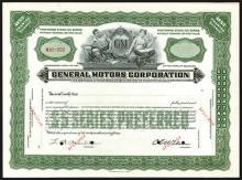General Motors Corp., 1946 Specimen Stock Certificate.