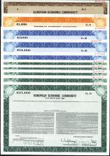 European Economic Community, 1970-80's Specimen Bond Assortment.