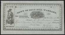 Town of Gold Hill Warrant or Bearer Scrip Note, Nevada.