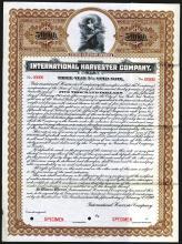 International Harvester Co., 1912 Specimen Bond.