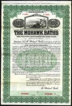 Mohawk Baths, 1914 Specimen Bond.