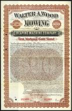 Walter A. Wood Mowing and Reaping Machine Co., 1893 Specimen Bond.