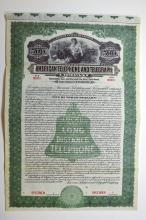 American Telephone and Telegraph Co., 1913 Specimen Bond.