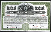 American Telephone and Telegraph Co., 1918 Specimen Bond.