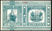 Snuff and Cigarette Specimen Label, Compania Recaudadora De Impuestos, ca.1880.