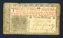 New Jersey, March 25, 1776 Second Issue Colonial Banknote.