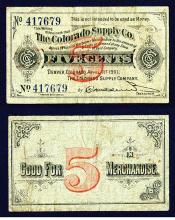 Colorado Supply Co., 1901 Issued Scrip Note.