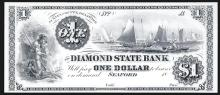 Diamond State Bank, $1 Proprietary Proof  Banknote