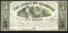 State of Georgia, 1864 Issued Obsolete Banknote.
