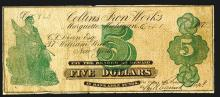 Collins Iron Works, 1872 & 1873 Issue Mining Scrip Notes.