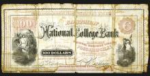 Eastman National College Bank, $100.
