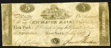 NY. Exchange Bank, $5, 1817 Issued Obsolete Banknote.