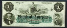 Bank of America, 1860's Obsolete Banknote.