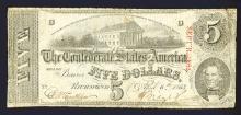 Confederate States of America, 1863 T-60 Issue.