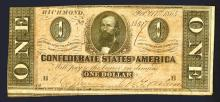 Confederate States of America, 1864 Issue.