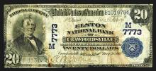 National Currency, IN. Elston National Bank of Crawfordsville.