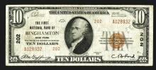 National Currency, NY. First National Bank of Binghamton.