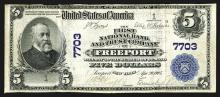 Number 1 Freeport National. Freeport, New York. $5 1902PB. First National Bank and Trust Company of Freeport. Fr.#598, Ch#7703.