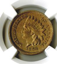 Cent, 1862, NGC AU details, rev scratched.