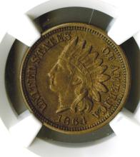 Cent, 1864 Copper Nickel, NGC AU Details, obv improperly cleaned