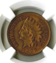 Cent, 1906, NGC MS63 RB pleasing toning