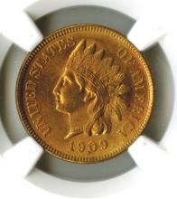 Cent, 1909 Indian, NGC MS63 RD
