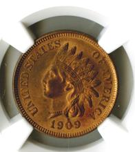 Cent, 1909 Indian, NGC MS64 RB