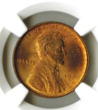 Lincoln Cent, 1909 VDB, NGC MS65 RB