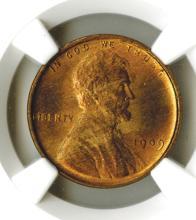 Lincoln Cent, 1909 VDB, NGC MS65 RD