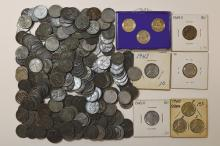 Lincoln Cents, Steel Wartime Composition, 1943, 1943D, 1943S. 275 pieces.