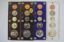 U.S. Proof Set Quartet, 4 sets, 20 coins.