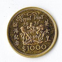 Hong Kong Royal Visit Gold Commemorative.