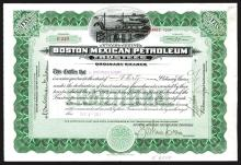 Boston Mexican Petroleum Trustees, 1919 Stock Signed by L.Sherman Adams, Governor of NH.