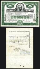 Moon Motor Car Company, 1930 Stock Certificate.